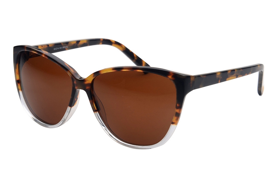 Amadeus A1011 Sunglasses in BRN/CL Tortoise Fade/Crystal / Brown Polarized